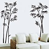 OneHouse Black Bamboo Wall Decals Home Room Wall Decor Sticker Removable
