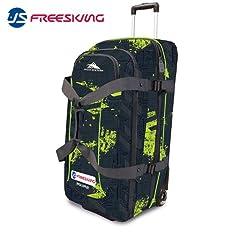 Buy High Sierra U.S. Free Skiing Team Expandable Wheeled Duffel Bag, Blue, 32x15x15-Inch by High Sierra