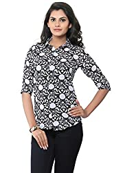LIBA Women's Shirt (LE-G-08 _Black_Medium)