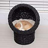 Gracelove Cat House Kitty House Cat Bed Condo Pet Furniture,Indoor/Outdoor (BLACK)