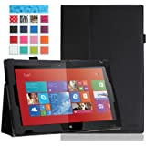 MoKo Nokia Lumia 2520 Case - Slim Folding Cover Case for Nokia Lumia 2520 10.1 Inch Microsoft Windows RT 8.1 Tablet, BLACK (with Smart Cover Auto Wake / Sleep)