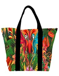 Snoogg Digital Bird Graphic Womens Large Shoulder Tote Bag