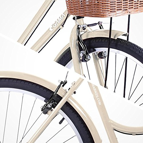 Gama Bikes Women's City Basic Step-Thru 6 Speed Shimano Hybrid Urban Cruiser Commuter Road Bicycle, 26-inch wheels 2