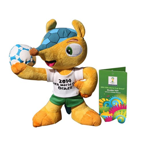 "Sale alerts for PlayValue World Cup 2014 Brazil Official Mascot-Fuleco-Plush Mascot-6"" (17cm) - Covvet"