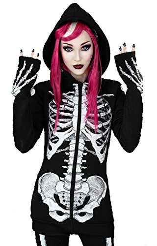Skeleton Hoodie Horror Jacket with Hood