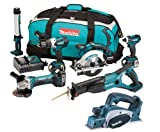 Makita 18V LXT Li Ion DK18027 6 Piece Kit And BKP180 BKP180Z BKP180Rfe Planer