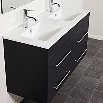 meuble de salle de bain bain helios noir mat aspect satin cuisine satin cuisine maison. Black Bedroom Furniture Sets. Home Design Ideas