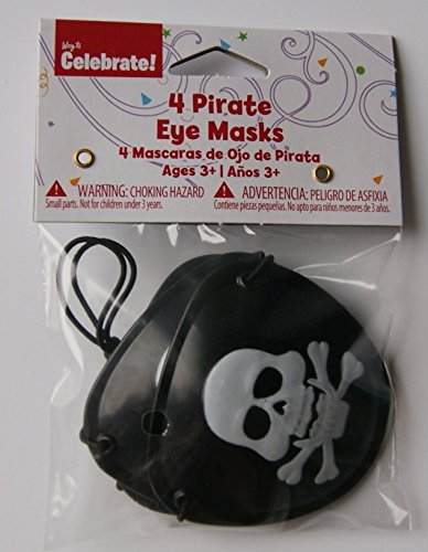Party Pirate Eye Patch Favors - Pack of Four