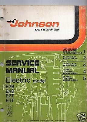 1976 Johnson Outboard Electric Motor Service Manual