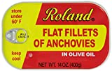 Roland Anchovy Fillets In Olive Oil, 14-Ounce Can (Pack of 2)