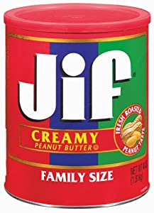 Jif Creamy Peanut Butter, 4 Pound (Pack of 6)