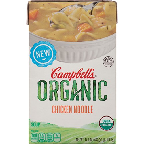 Campbell's Organic Soup, Chicken Noodle, 17 Ounce (Pack of 8) (Campbells Soup Chicken Noodle compare prices)