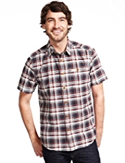 North Coast Pure Cotton Checked Shirt
