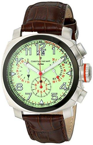Christian-Van-Sant-Mens-CV3AU6-Grand-Python-Analog-Display-Swiss-Quartz-Brown-Watch