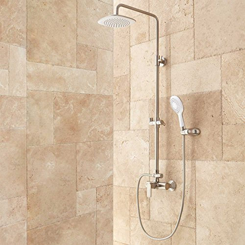 exposed pipe shower . So You Are Not Disappointed After Buying It And In Accordance With The  Product Need You Can Also Find Price Comparisons From Sellers That I Met Mayport Exposed Pipe Shower Brushed Nickel Barbarsdselyakova