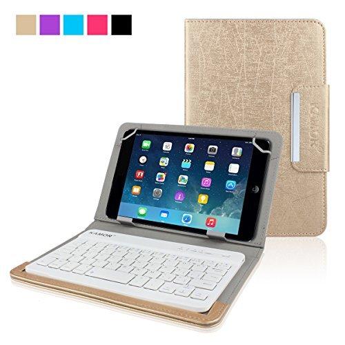 Kamor® Universalität 7 Zoll 8 Zoll Tablet Oracle PU Ledertasche mit Bluetooth drahtlose Tastatur für iPad mini / iPad mini 2 / iPad mini 3, Samsung Galaxy Tab 3 (8-Zoll) / Samsung Galaxy Tab 4 (8-Zoll) / Samsung Galaxy Tab Pro 8.4-Inch / Samsung Galaxy Tab S 8,4 Zoll / Samsung Galaxy Note 8.0, ASUS Notizblock 8, Acer Iconia B1-710-L401 / Acer Iconia One 8 B1-810-11TV, Dell Venue 8 / Dell Venue 8 Pro 5000 Series, Drache touch-I8 / Drache touch-M8, HP Slate S7-4200US / HP Strom 8, ProntoTec Axius