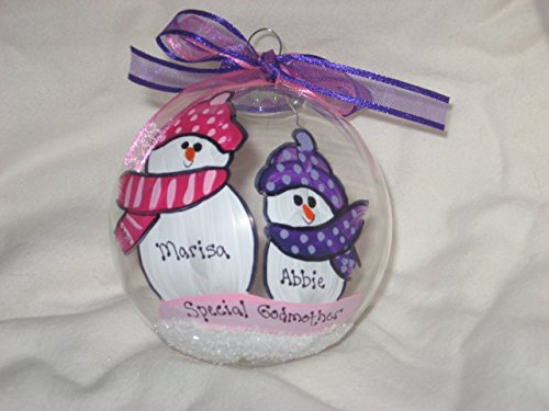 Special Godmother - Hand-painted personalized ornament (Personalized Godmother Ornament compare prices)