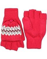 RJM Girls Fingerless Mitten Cap Gloves