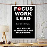 PPD Office Wall Poster Office Door Poster Home Wall Poster Wall Decore Poster (Focus Work Lead).
