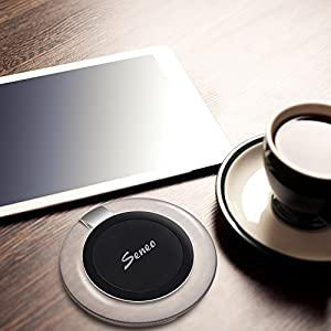 Seneo Wireless Charging Pad, Ultra-slim Wireless Charger for Samsung Galaxy S6 / Edge / Plus