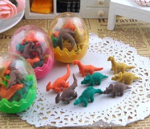 おもしろ消しゴム 恐竜のたまごに入った ミニミニ 恐竜 消しゴム 24個セット 景品