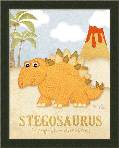 Stegosaurus Kids Room Décor Dinosaur 12.5X15.5 Framed Art Print Picture By Jennifer Pugh front-619003