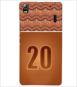 PrintDhaba Numerology Number 20 D-3655 Back Case Cover for LENOVO K3 NOTE (Multi-Coloured)
