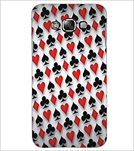 PrintDhaba Cards D-5358 Back Case Cover for SAMSUNG GALAXY E7 (Multi-Coloured)