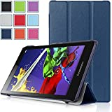 Lenovo Tab 2 A8 Case - HOTCOOL Ultra Slim Lightweight SmartCover Stand Case For 2015 Released 8-Inch Lenovo TAB 2 A8-50 ZA030046US Tablet, Navy Blue