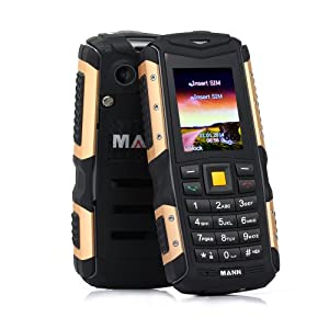 ECOOPRO® Rugged GSM Cell Phone - IP67 Waterproof ,Shockproof ,Dustproof Dual SIM Long-time Standby Unlocked Cell Phone (Gold)