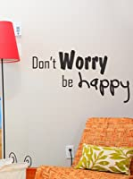 Ambiance Live Vinilo Adhesivo Don'T Worry Be Happy Negro