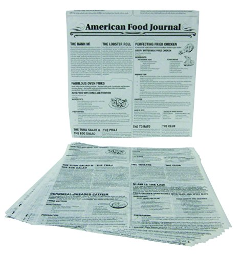Durable Packaging FP1212-NEWS News Print Wax Sheets, 12
