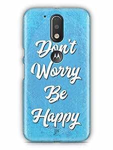 YuBingo Don't Worry. Be Happy Designer Mobile Case Back Cover for Motorola G4
