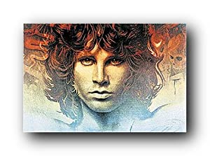 Jim Morrison (Face, Color Background w Detail) Music Poster Print