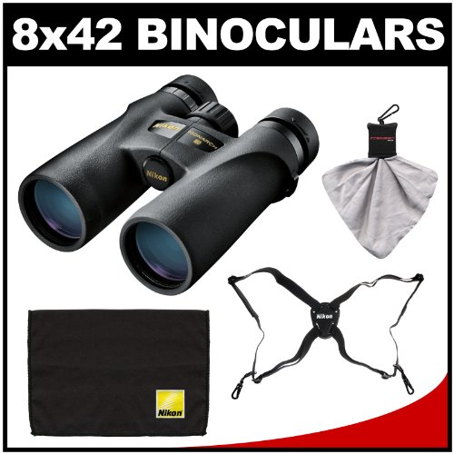 Nikon Monarch 3 8X42 Atb Waterproof/Fogproof Binoculars With Case + Easy Carry Harness + Cleaning Cloth