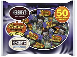 Hershey's Halloween Snack Size Candy Assortment, 50-Piece, (Pack of 2)