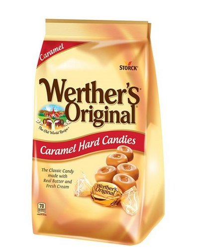 Werther's Original Caramel Hard Candy, 34.0-Ounce Bags (Pack of 2)