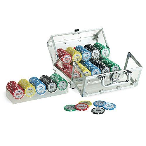 Juego JU00120 Casino Poker Crystal Tournament 400 Jetons Chips/Fiches 14 gr.