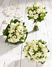 White Rose and Freesia Wedding Collection 1