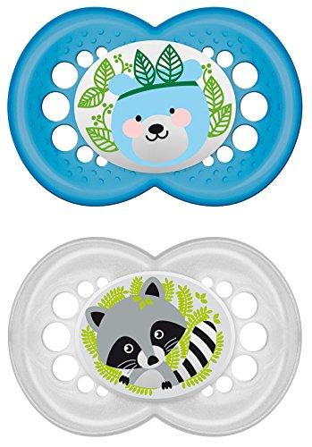"""MAM 706011 - Ciuccio """"Original"""" in silicone per bambini dai 16 mesi in su, senza BPA, confezione doppia, colori assortiti"""