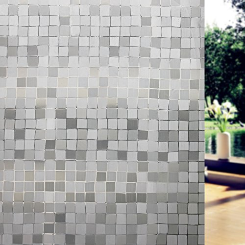 Amposei Static Cling Frosted Square Privacy Glass Window Film