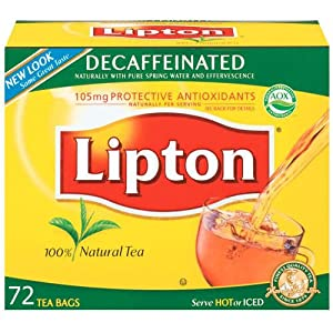 Lipton Naturally Decaffeinated Tea, Tea Bags, 72-Count (Pack of 6) by Lipton