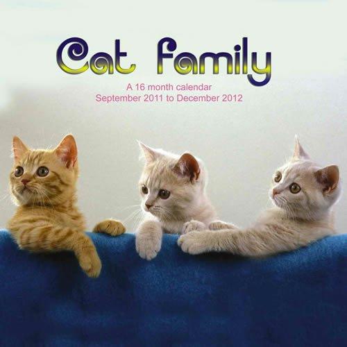 Cat Family 2012 Calendar CAD05