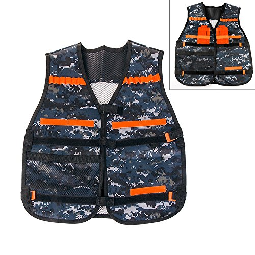 Tactical Vest Nerf N-Strike Elite Protective Adjustable Vest Series With Storage Pockets