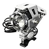 AUDEW バイク用LEDヘッドライト プロジェクター 砲弾型 HI LO 防水 アルミヒートシンク 安心一年保証U5 実際電力10W 3000LM 12V~80V ストロボ機能 3段階モード機能搭載
