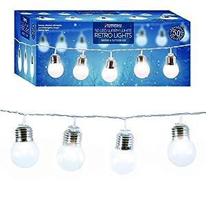 GardenKraft 75000 String Light Bulb Warm LED Party Lights - White from Benross Group