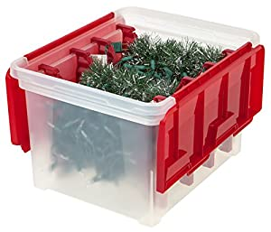 Holiday Wing Lid Storage Box with 4 Light Wraps