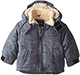 London Fog Baby Boys' Printed Brushed Classic Bubble