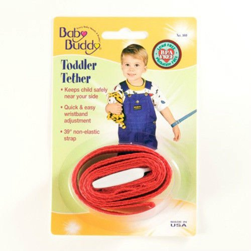 Baby Buddy Toddler Tether / Safety Wrist Leash / Wristband Strap - Red front-858785