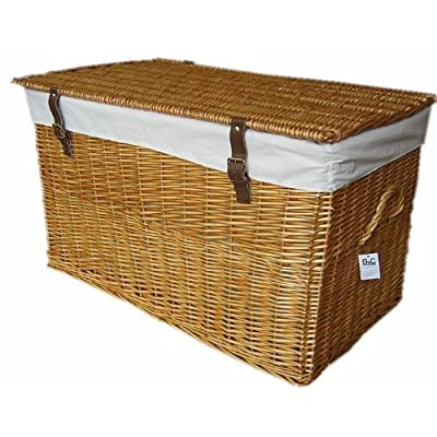 Wicker Storage Trunk Chest large